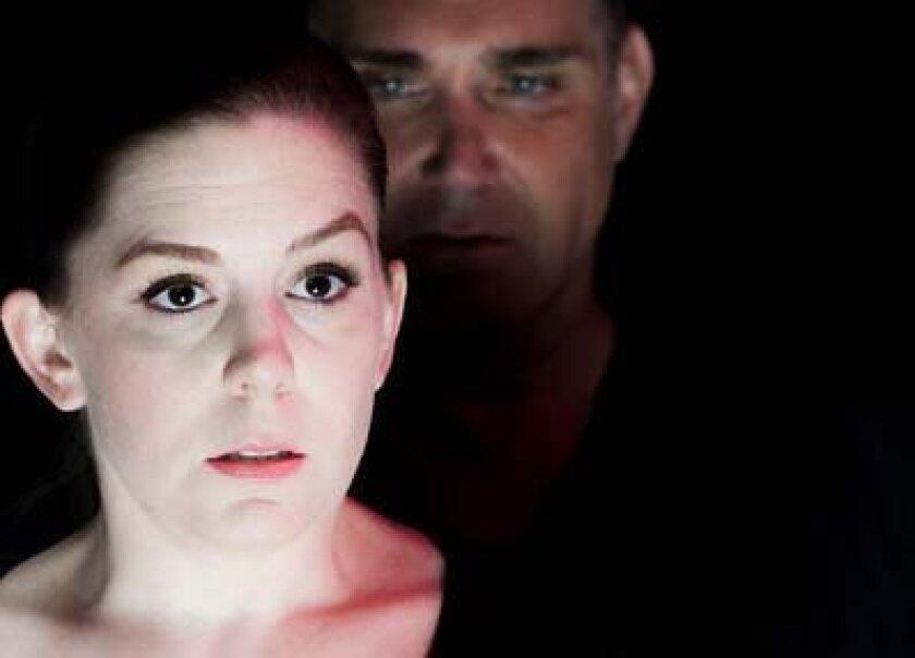 """Kristin Woodburn and Daren Scott star in New Village Arts Theatre's """"Wait Until Dark."""""""