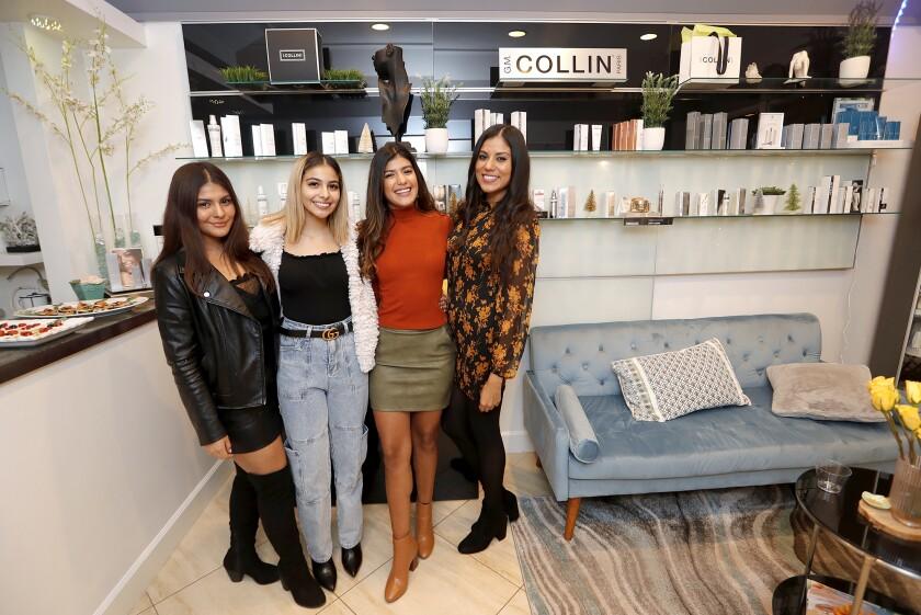 Sisters Nicole, Michelle, Perla and Lesli Del Rio, from left,  stand in their new Spa Del Rio location.