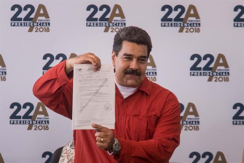 """Estados Unidos mantiene su rechazo a las elecciones presidenciales venezolanas pese al cambio de fecha del 22 de abril al 20 de mayo anunciado hoy y reitera su llamado a unos comicios """"justos, libres y con observación internacional creíble"""". En la imagen el presidente de Venezuela, Nicolás Maduro. EFE/ARCHIVO"""