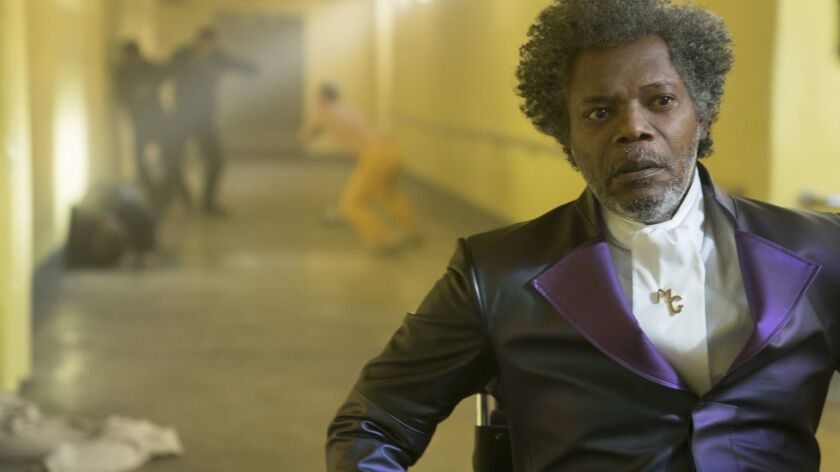 This image released by Universal Pictures shows Samuel L. Jackson in a scene from M. Night Shyamalan