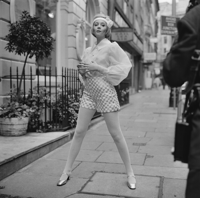South African actress, singer and fashion model Genevieve Waite in London in 1968.