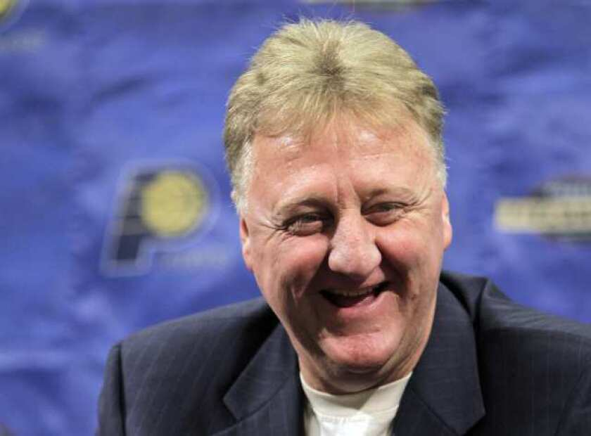 Larry Bird is the first person to be named NBA Executive of the Year, Coach of the Year and MVP.