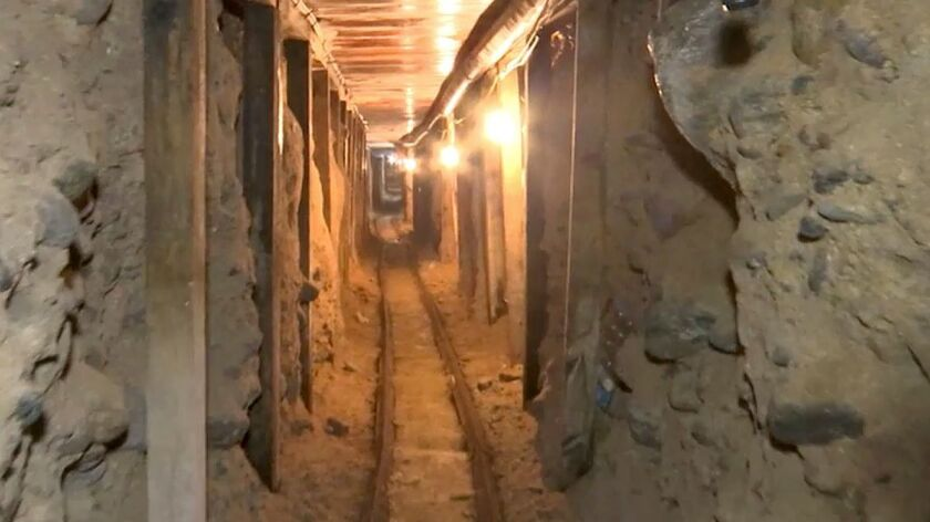 A cross-border tunnel discovered in December