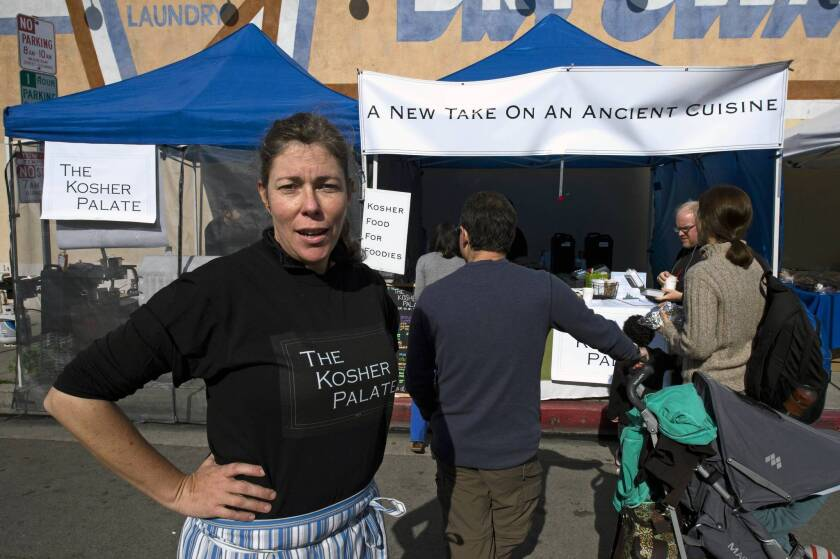 Michele Grant of the Kosher Palate sells an updated take on traditional Jewish food at area farmers markets.