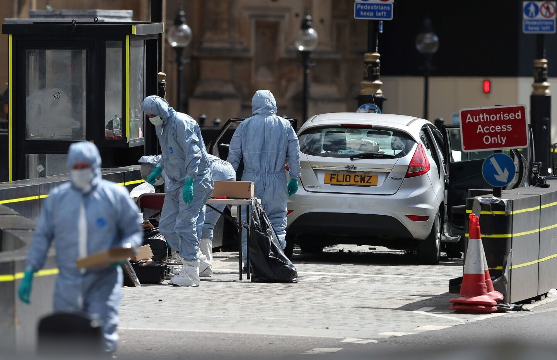 Car crash outside Parliament