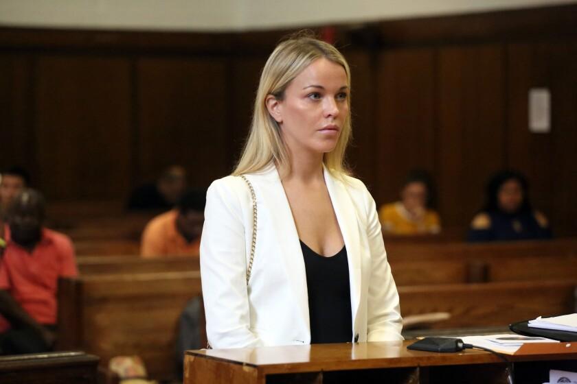 Jacqueline Kent Cooke appears in Manhattan Criminal Court on Thursday, July 12, 2018.