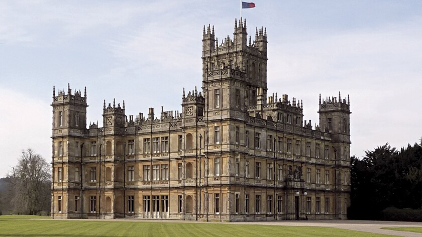 "Highclere Castle, home of ""Downton Abbey's"" Crawley family, is the setting for a Christmas ball."