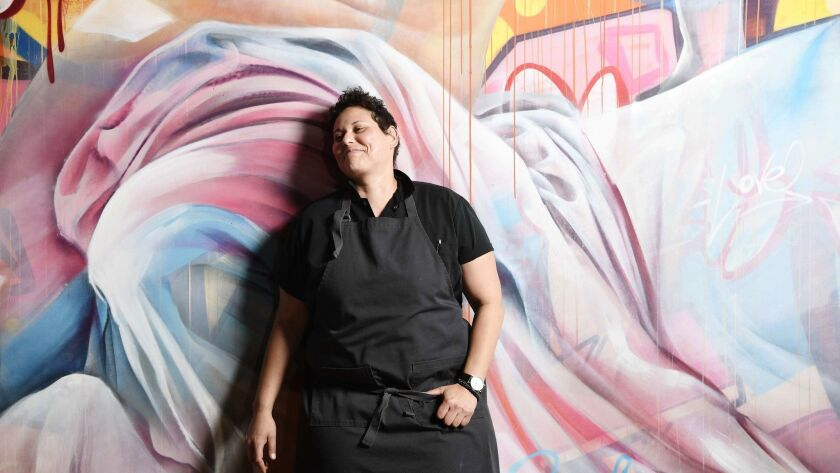 LOS ANGELES, CA-April 24, 2019: Chef and owner of Ot?no,Teresa Monta?o on Wednesday, April 24, 2019.