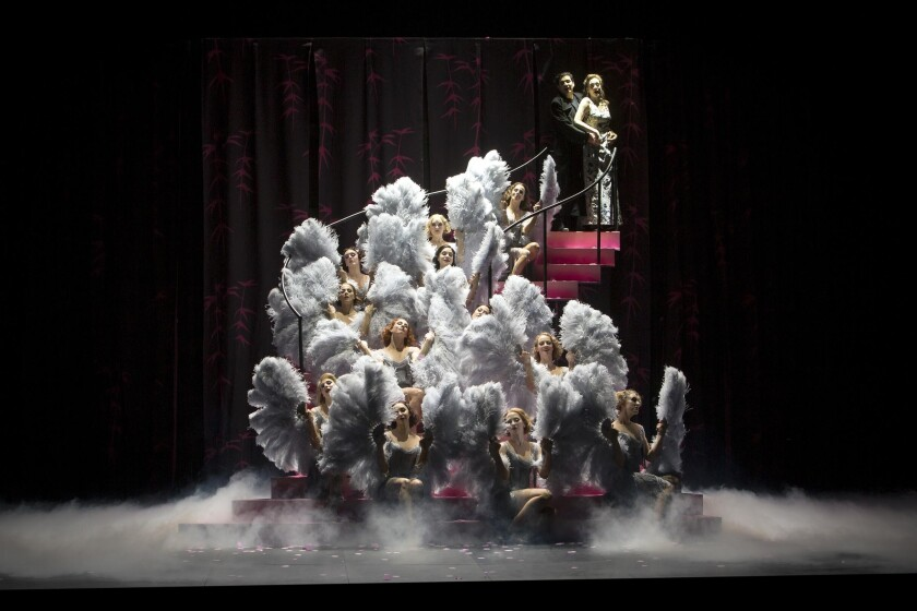 """Barrie Kosky's Komische Oper production of Weinberger's operetta, """"Spring Storms,"""" currently streaming on operavison.eu."""