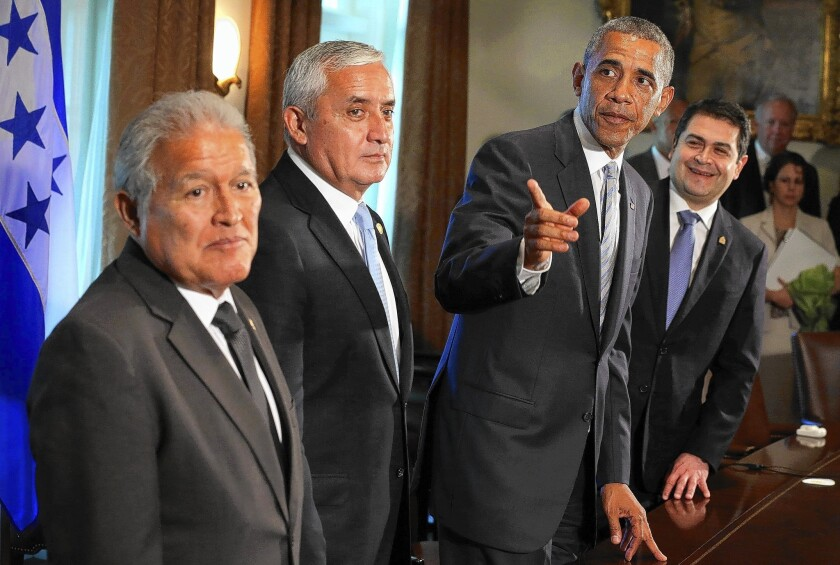 Obama meets with Central American leaders