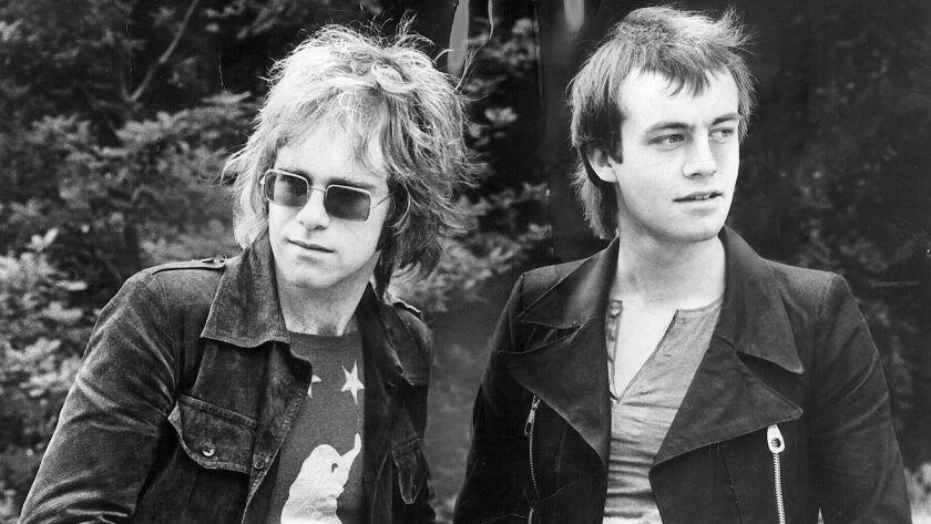 Elton John and Bernie Taupin in 1970