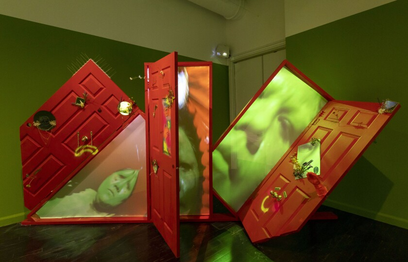 """An installation view of Gabriela Ruiz's """"Full of Tears"""" at the Vincent Price Art Museum"""