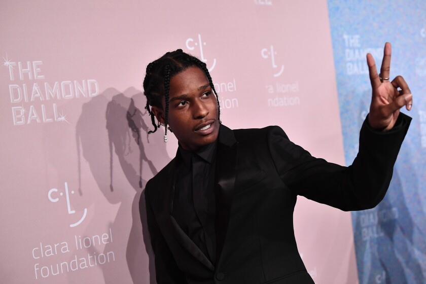 ASAP Rocky, shown here attending Rihanna's Diamond Ball in 2018, is back in the U.S. from Sweden, awaiting a verdict on assault charges.