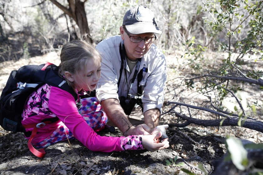 CORONADO NATIONAL FOREST, ARIZ. -- SUNDAY, MARCH 3, 2019: Taylor Edwards, right, and daughter Amira