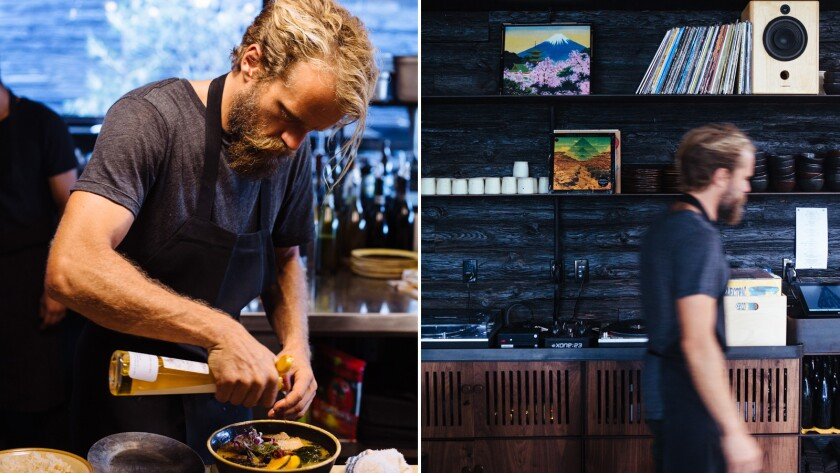 Travis Lett at the Gjusta Group's MTN in Venice; the restaurant opened in 2017.