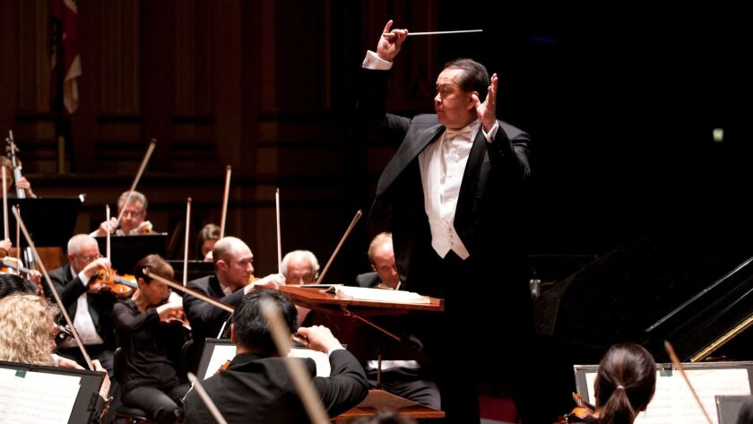 Jahja Ling, shown in this file photo, conducts the San Diego Symphony.