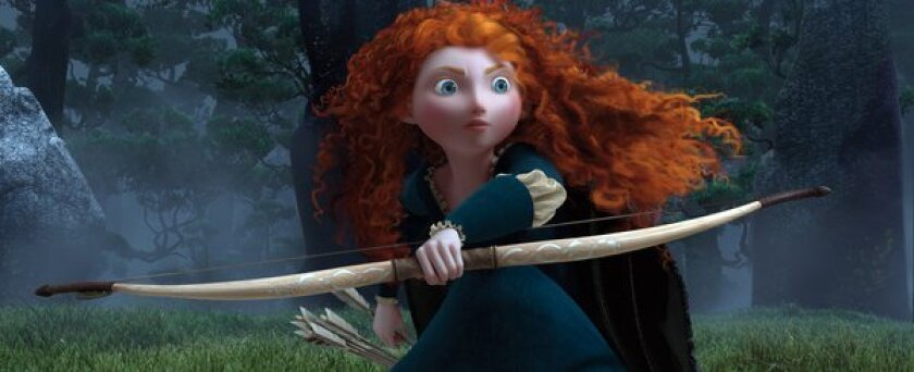 """Merida, voiced by Kelly Macdonald, is seen in """"Brave."""""""