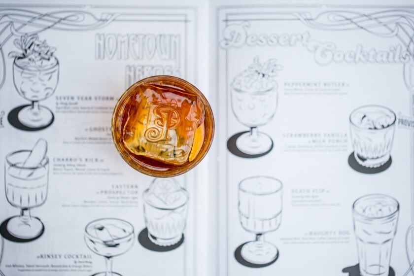 Polite Provisions coloring book drink menu. (Courtesy photo)