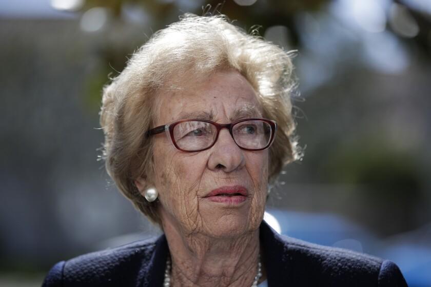 Eva Schloss, the stepsister of Anne Frank and a Holocaust survivor