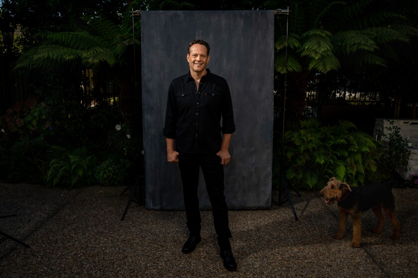 """Vince Vaughn, at his Manhattan Beach home in late October, is starring in the new film """"Freaky"""""""