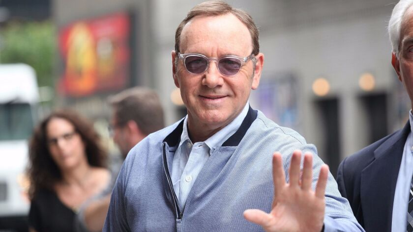 Mandatory Credit: Photo by MediaPunch/REX/Shutterstock (8835703a) Kevin Spacey 'The Late Show With