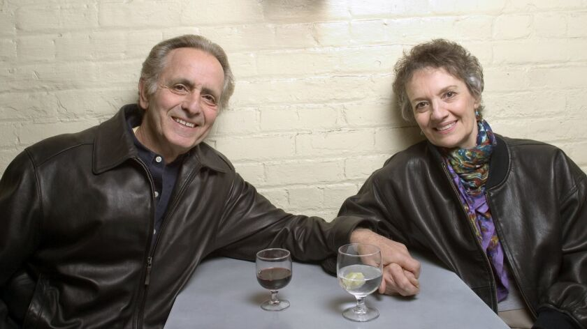 Playwright Mark Medoff and actress Phyllis Frelich in New York City in April 2004.