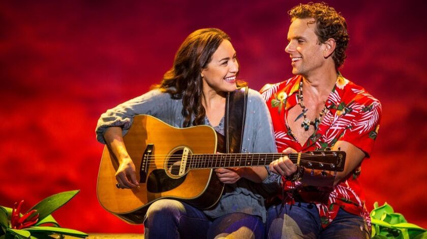 """Alison Luff and Paul Alexander Nolan in """"Escape to Margaritaville."""""""