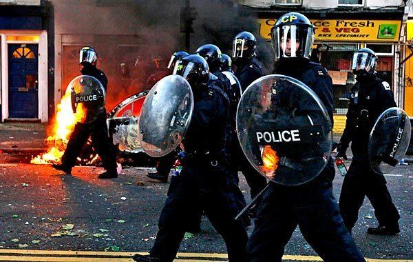 Rioting in London