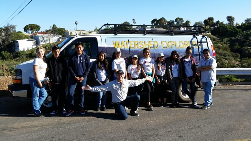 Monroe Clark Middle School students participate in the Watershed Explorer Program.