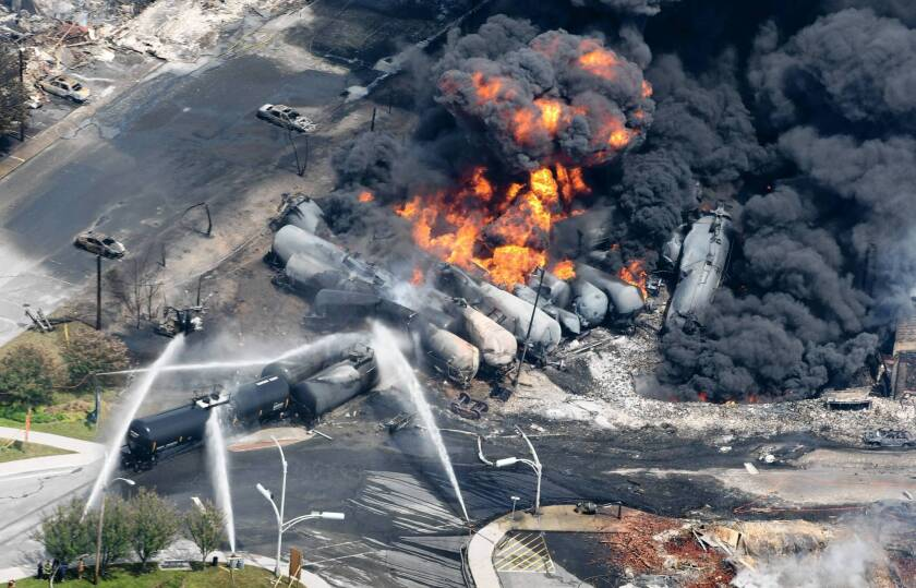 The July oil train disaster in Lac-Megantic, Quebec, in Canada has fueled heightened scrutiny in the U.S. of transporting crude by rail.