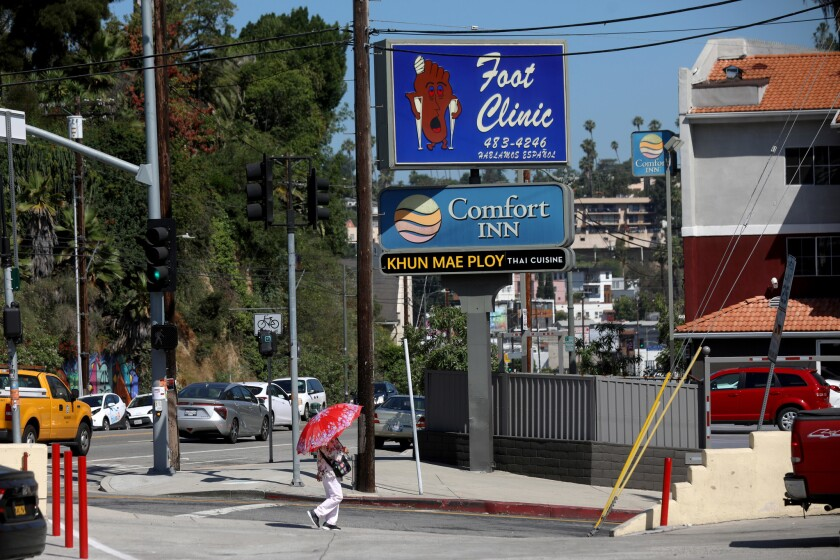 LOS ANGELES, CALIF. -- MONDAY, JULY 1, 2019: Sunset Foot Clinic in Los Angeles, Calif., on July 1, 2