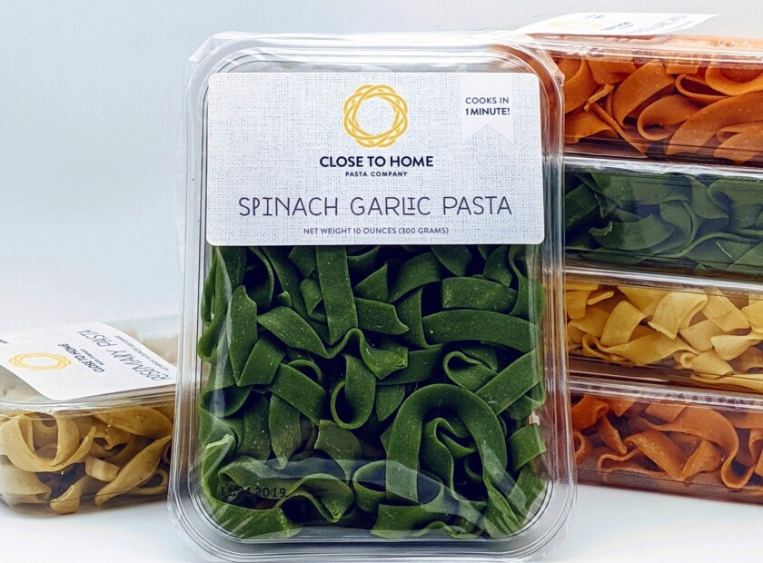 Close to Home pasta, a long-time favorite at farmers markets, is now available Valley Farm Market in Spring Valley and La Jolla.