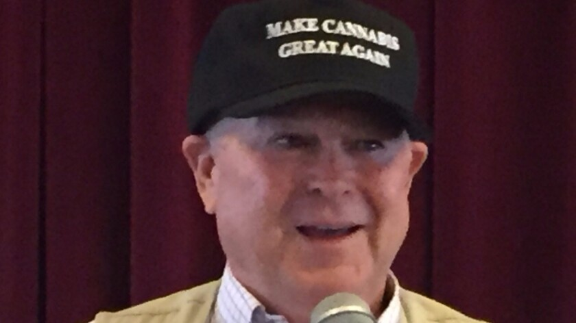 U.S. Rep Dana Rohrabacher at the State of Marijuana '16 conference on the Queen Mary in Long Beach