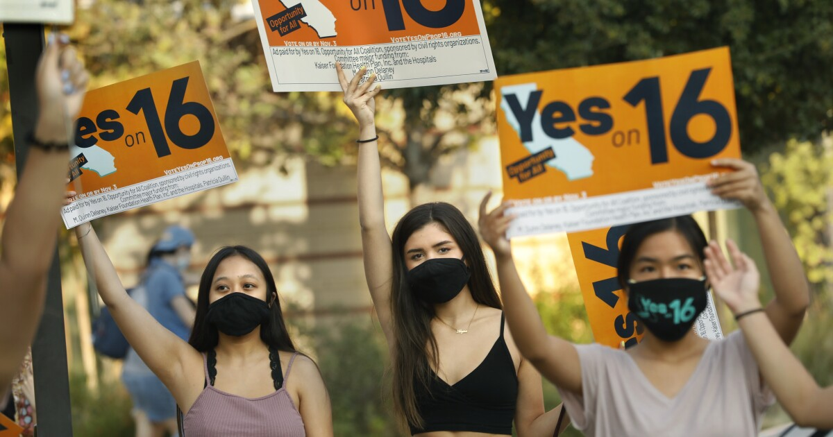 www.latimes.com: Proposition 16 asks Californians to give affirmative action another try