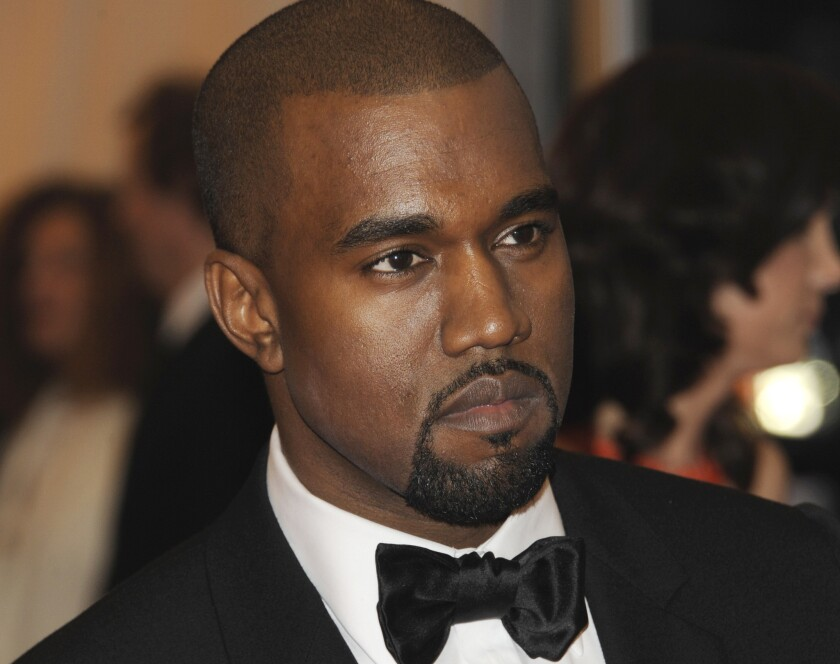 """Kanye West, pictured in 2012, performed Saturday night at Staples Center, the first of two shows at the arena in support of this year's """"Yeezus"""" album."""