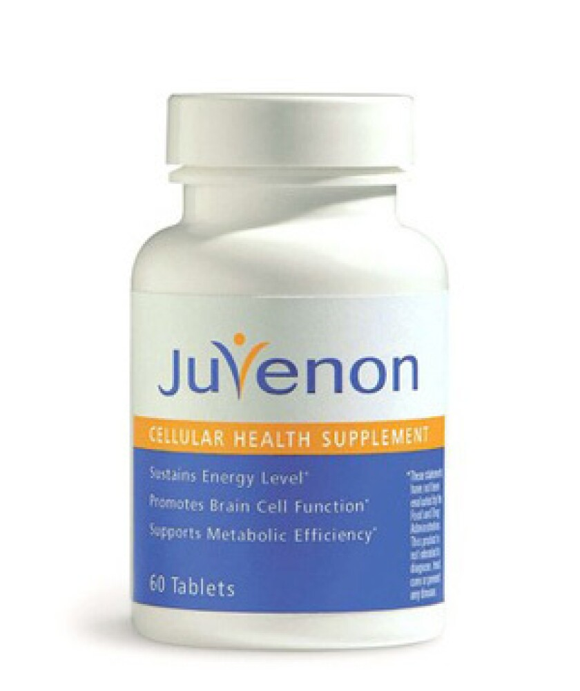 "Juvenon is a widely advertised ""anti-aging"" supplement."