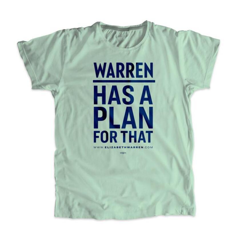 "Elizabeth Warren's ""Warren Has a Plan for That"" campaign T-shirt"