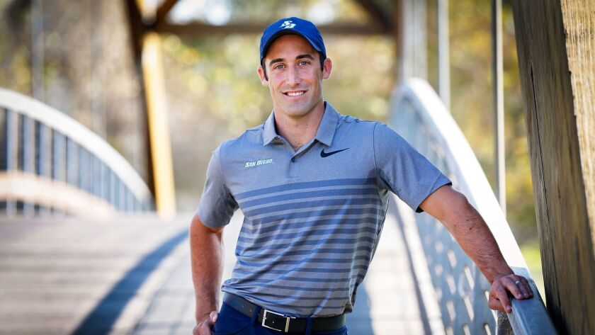 Tyler Gulliksen is a USD golfer and graduate student from the Navy.