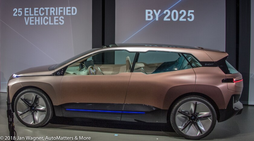 BMW Vision iNEXT electric autonomous concept vehicle