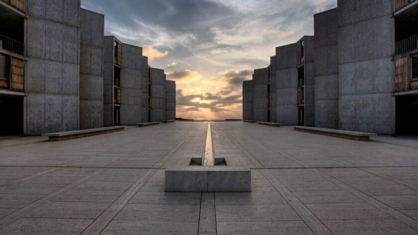 Various views of the Salk Institute in La Jolla, a scientific research lab designed by architect Lou
