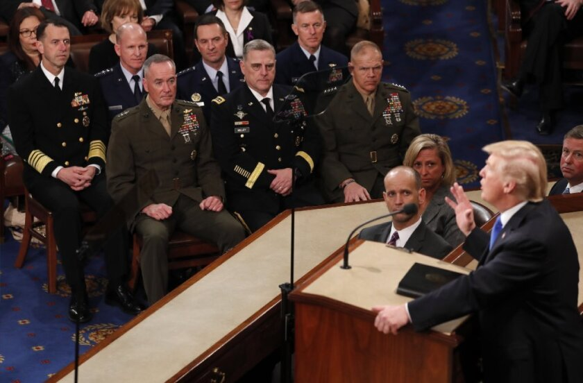 President Trump State of the Union Address and the military