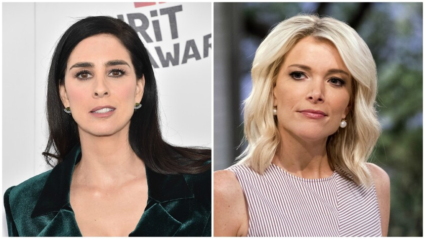 Sarah Silverman Uses Megyn Kelly Twitter Feud To Plug Ralph Breaks The Internet Los Angeles Times