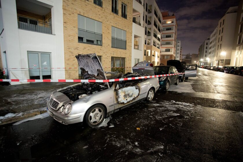 Vehicle damage after Berlin arson attack