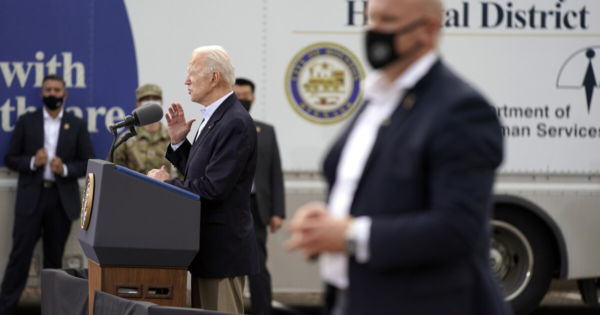 Biden tours storm-ravaged Texas amid state's reckoning - Los Angeles Times