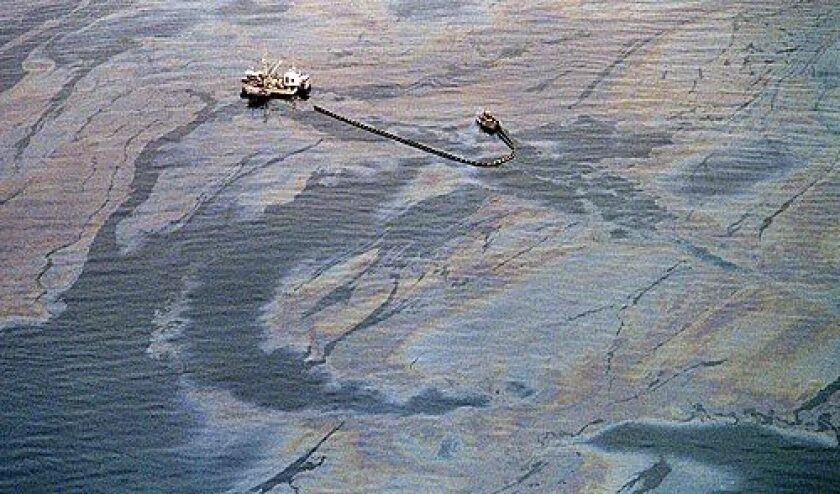 The Exxon Valdez spill in March 1989 led to cleanup operations such as this one near the southwest end of Prince William Sound off Alaska. More photos >>>