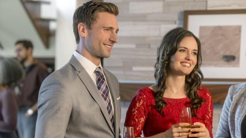 """Andrew Walker and Danica McKellar in """"Love in Design"""" on Hallmark."""