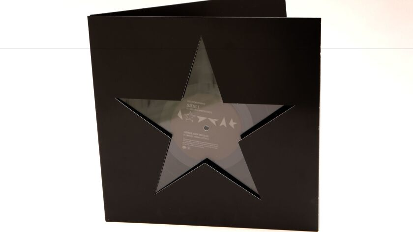 "David Bowie's ""Blackstar,"" whose package was designed by Jonathan Barnbrook."