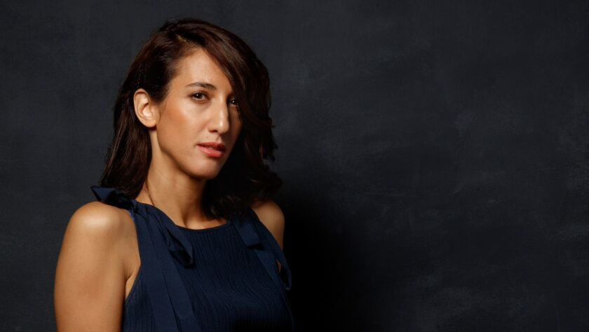 """Director Deniz Gamze Erguven from the film """"Kings,"""" photographed at the L.A. Times photo booth at the 42nd Toronto International Film Festival."""