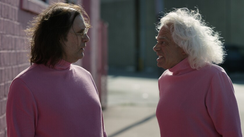 """Sky Elobar, as Big Brayden, and Michael St. Michaels, as Big Ronnie, in """"The Greasy Strangler."""""""