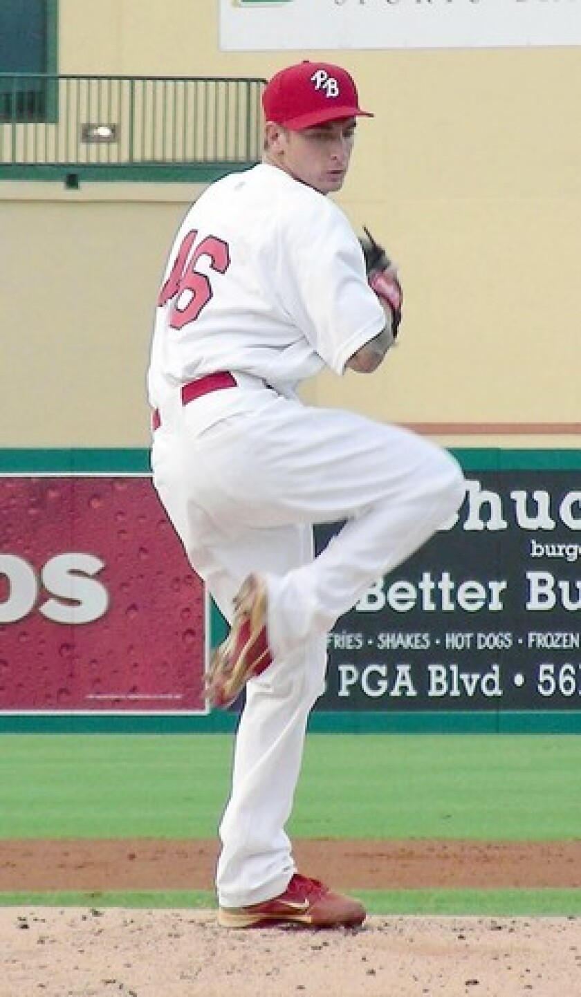 Former Glendale Community College pitcher Ryan Sherriff has had success in the minor leagues so far. He is 8-3 to this point with a 3.49 earned-run average with the Palm Beach Cardinals.